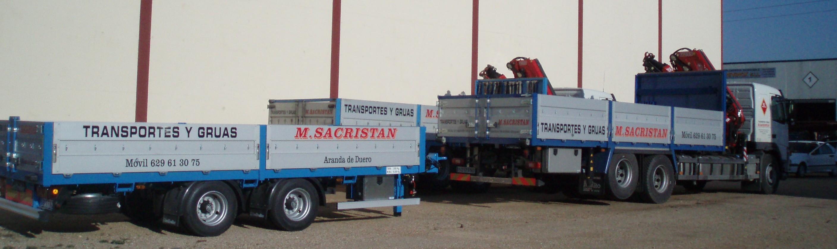 Camion mas remolque transporte pesado